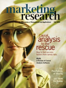 Cover: Causal Analysis to the Rescue: How to find success factors from survey data - Buckler